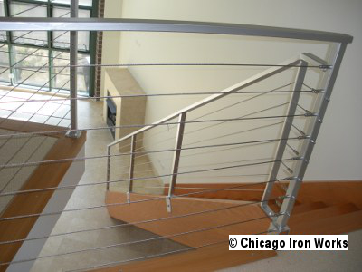 Steel Cable Railing for Loft and Stairway
