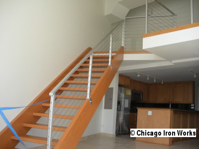 Steel Cable Railing for Stairway
