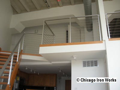 Steel Cable Railing along hallway