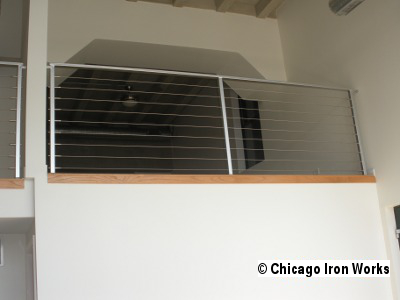 Steel Cable Railing along loft
