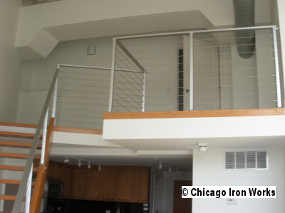 Steel Cable Railing looking upstairs