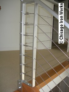 Steel Cable Railing Corner