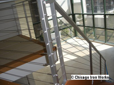 Steel Cable Railing Downstairs View
