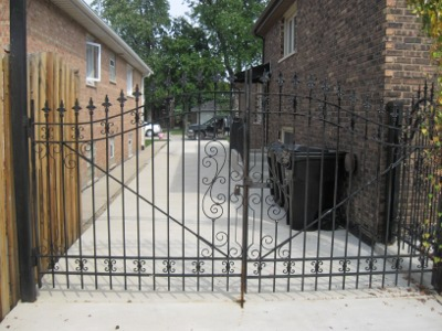 Driveway Gate to Limit Access to Back Yard and Garage