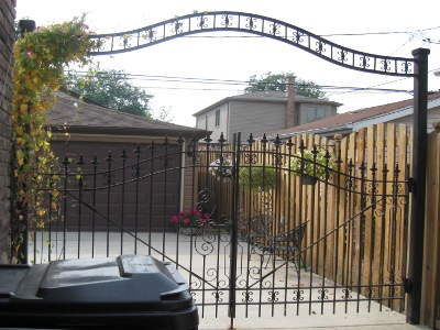 Decorative Iron Arched Driveway Gate